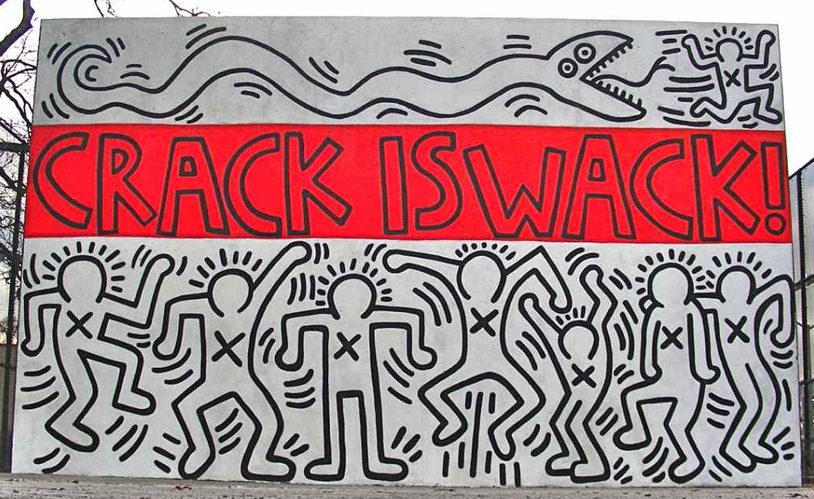 Basquiat s prevalence in the tech space adam marx 39 s mind for Crack is wack keith haring mural