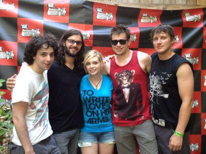 Me with June Divided at Warped Tour Atlanta, 2012