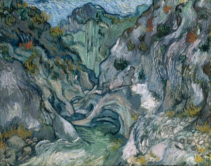 "Van Gogh's ""Ravine""; 1889; image courtesy of the MFA"