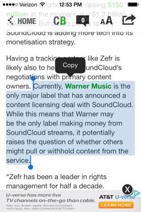 SoundCloud only has a deal with Warner as of now