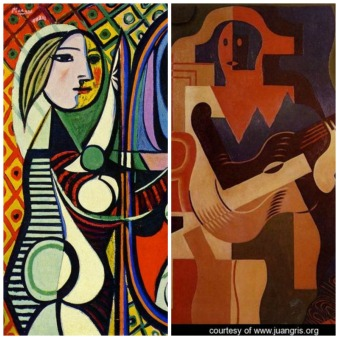 Right: Pablo Picasso;