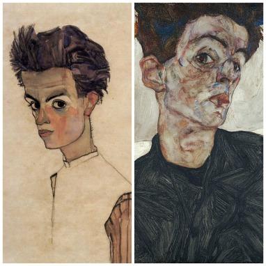 Egon Schiele; left: