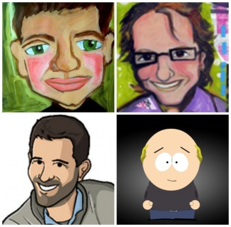 Twitter avatar profile pictures of Fred Wilson (top left), Brad Feld (top right), Hunter Walk (bottom left), and Marc Andreessen (bottom right)