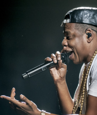 Jay-Z at one of his TIDAL concerts