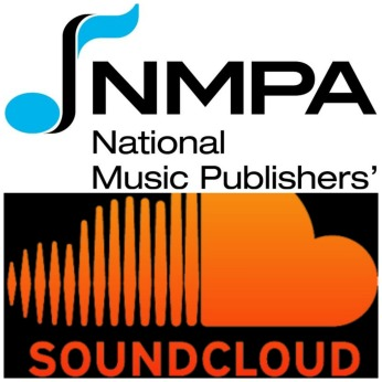 The NMPA and SoundCloud logos