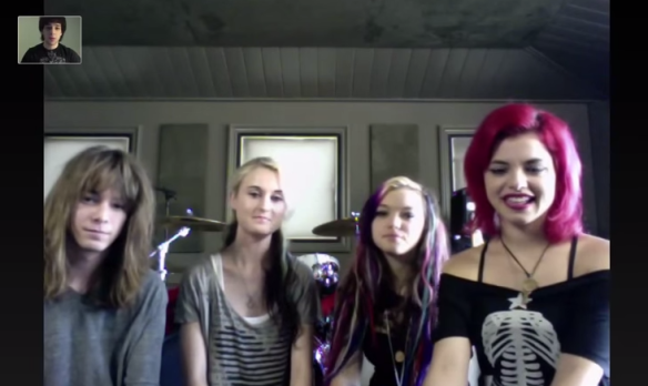 Me interviewing Cherri Bomb (now Hey Violet) from Amsterdam, Netherlands