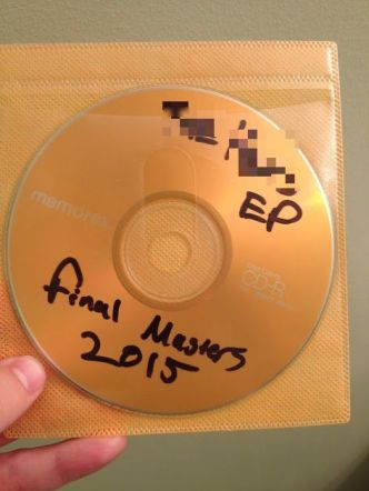 Mastered copy of an artist's new EP I received yesterday, 2 months before official release